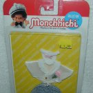 Sekiguchi MONCHHICHI SATIN DINNER SUIT + DICKIE TIE CLOTHES 3pc Set 13cm BOY MIP