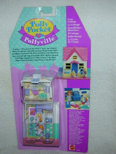 1994 COZY COTTAGE Polly Pocket HOUSE Pollyville Playset MIB # 11200