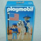 1987 PLAYMOBIL Western DECORATED UNION GENERAL Civil War + APPALOOSA 3306 MIB