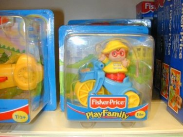 EURO EXCLUSIVE Fisher Price LP MAGGIE AND TRIKE # 72825 MOC PLAY FAMILY PEOPLE