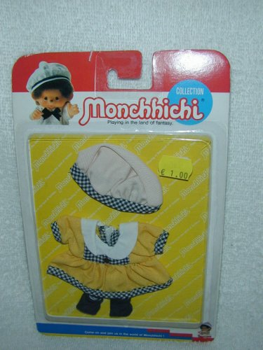 Sekiguchi MONCHHICHI YELLOW SUNSHINE CLOTHING 3pc Set 13cm Girl MOC VINTAGE