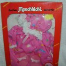 Sekiguchi MONCHHICHI LACE NIGHT GOWN + SLIPPERS 3pc CLOTHES 21cm MIB JAPAN ANIME