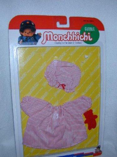 MONCHHICHI Sekiguchi SLEEPY NIGHTGOWN Bear 3 pc CLOTHING 21CM GIRL MOC VINTAGE