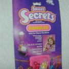 1984 SWEET SECRETS  Bathtub BEAR Add-On Charm Necklace Ice Cream Soda # 4630 MOC