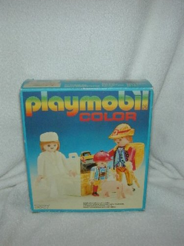 Vintage 1983 PLAYMOBIL COLOR SET 3637 German Family Pigs Suitcases MISB nrfb