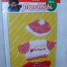 Sekiguchi MONCHHICHI Red White Stripe 3 pc CLOTHING Set 21 CM Girl MOC VINTAGE