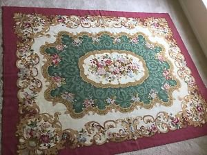 """10'9"""" x 13'   Hand Woven Aubusson China Wool Oriental Rug, Hand Washed"""