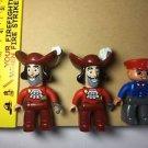 LEGO Duplo Jake & the Neverland Pirates 10513 Captain Hook Figure Lot 3 Pc
