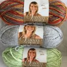YARN LOT OF 3 - Lion Brand VANNA'S CHOICE  Silver Autumn Seaspray NEW UNUSED