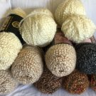 YARN LOT 8 New + 4 balls - Lion Brand HOMESPUN Solid +Varigated UNUSED FREE SHIP