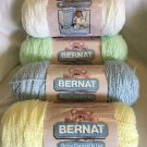 NEW 4x BERNAT Baby Coordinates Yarn PASTELS HTF 5.6 Oz Yellow Blue Green White