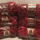 Discontinued BERNAT Truffles CHERRY RED Variegated Soft Fluff Ruffle Scarf HTF