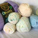 YARN LOT OF 9 - Lion Brand JIFFY JAMIE Pastel Pound Of Love NEW UNUSED Baby Yarn