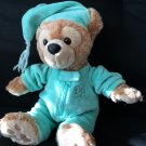 "Disney Park HIDDEN MICKEY Mouse Teddy Bear Night Cap Brown 13"" Pajamas"