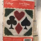 VTG Craftways CARD GAMES Latch Hook Kit 12x12 #133631 Hearts Spade Club Diamonds