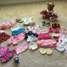 Huge BAB Authentic BUILD A BEAR Lot of Clothes Shoes Top Short Skirt CHEERLEADER