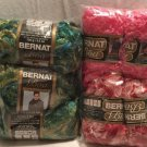 Mixed BOA LOT OF 7 - BERNAT Chick PINK Green KIWI Multi NEW Large 100 Gr Skeins