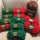 NEW Mixed LOT x12  YARN Christmas HOLIDAYS BERNAT Puffball ICICLE HandiCrafter