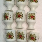 LOT Of 9 IRISH COFFEE Pedestal MUGS CUPS VINTAGE CORNING WARE Spice of Life HTF