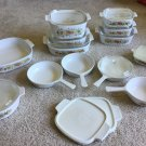 LOT of 24 Vintage Corning Ware Spice of Life CASSEROLES SKILLETS SAUCEPANS BAKER