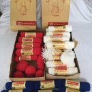 Vintage 39 Skeins SPINNERIN Caresse ORLON Acrylic YARN Red White Blue