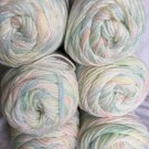 LOT 6x RED HEART Super Saver YARN #345 BABY PRINT 5oz Green Blue Yellow Pink