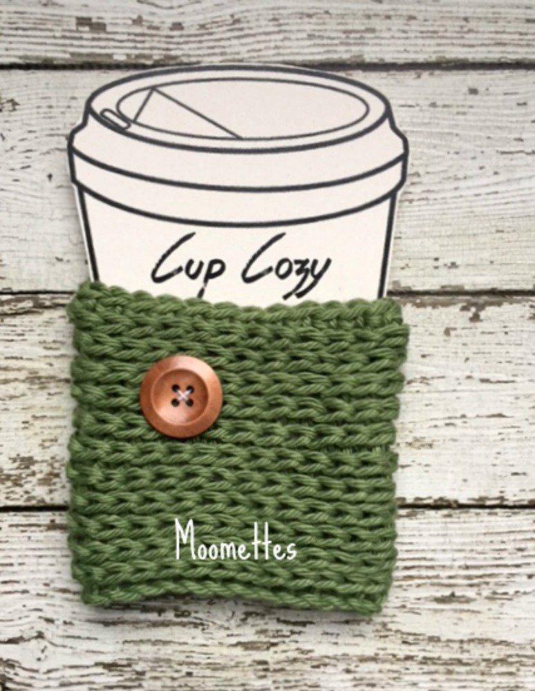 Handmade Cup Cozy Cozies Sage Green Crochet Mug Sleeve Coffee Cup