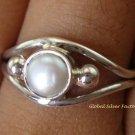 925 Silver Freshwater Pearl Gemstone Size 7 RI-269-NY