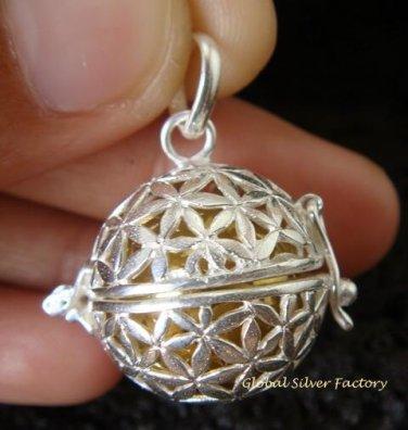 925 Silver Frangipani Harmony Ball Pendant HB -288-PS