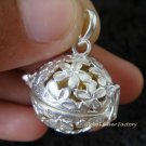 925 Silver Frangipani Harmony Ball Pendant HB-289-PS
