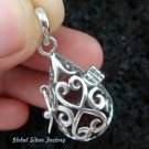 925 Silver Heart Design Harmony Ball HB-283-KT