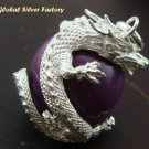 Sterling Silver & Dragon Purple Chime Ball CH-288-KT