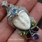 925 Silver & Mix Gemstones Goddess Pendant GDP-520-PS