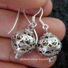 925 Silver Amethyst Chime Ball Earrings CBE-146-KT