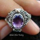 925 Silver Amethyst Poison Ring LR-518-KT