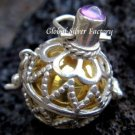 925 Silver Amethyst Harmony Ball Pendant HB-170-KT