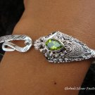 Silver & Peridot Snake Bangle SBB-265-KT