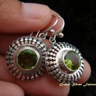 925 Silver & Peridot Round Earrings ER-481-KT