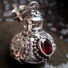 Sterling Silver Garnet Perfume Bottle pendant PP-137-KT