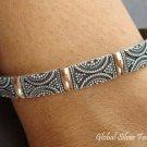 925 Silver & 18kt Gold Vermeil Bangle SBB-239-PS