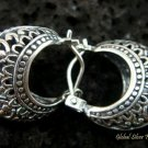 17mm Sterling Silver Bali Hoop Earrings SE-128-KT