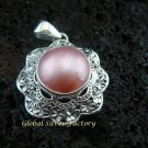 925 Silver Mabe Pearl Flower Pendant SP-385-KT