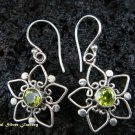 Sterling Silver Heart Peridot Earrings ER-432-IKP
