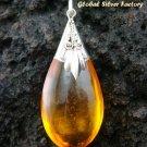 925 Silver Amber (syn) Pendant SJ-201-KT
