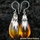 Silver Amber & Citrine Earrings SJ-193-KA