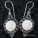 925 Silver Garnet Goddess Earrings GDE-773-NY