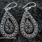 Sterling Silver Bali Ornate Design Earrings SE-138-KT