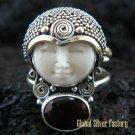 925 Silver Garnet Sajen Goddess Ring GDR-662-KT