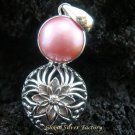 Floral Bali 925 Silver & Pink Pearl Pendant SP-382-KT