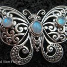 925 Silver Moonstone Butterfly Brooch BC-124-KT